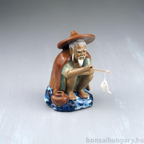 Halász bonsai szobor - 12 cm