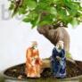 Kép 2/2 - Bonsaimester szobor - 6 cm