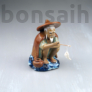 Kép 1/3 - Halász bonsai szobor - 12 cm