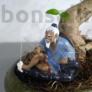 Kép 2/3 - Halász bonsai szobor - 10 cm