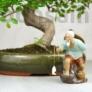 Kép 3/4 - Halász bonsai szobor - 13 cm