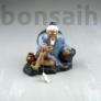 Kép 1/3 - Halász bonsai szobor - 10 cm